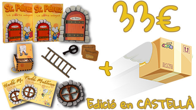 La Porta Màgica del Sr. Pérez (Edició en CASTELLÀ) + Caixeta de les Dents + Finestra Màgica de la Fada Martina