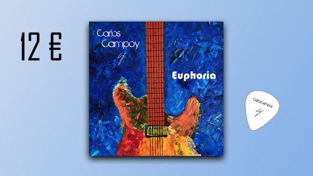 """Disco """"Euphoria"""" de Carlos Campoy + púa signature"""