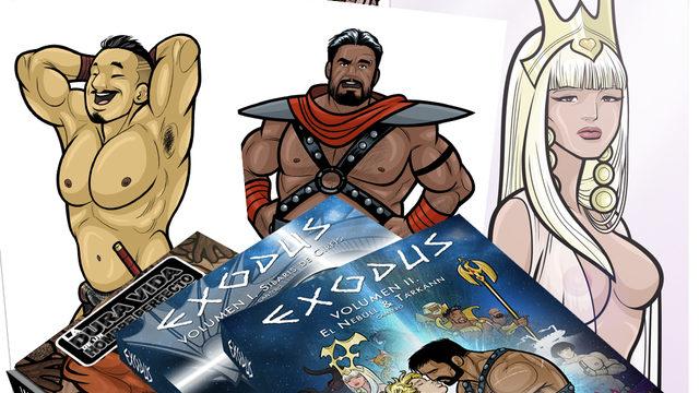 Retrato estilo heroic-fantasy + publicaciones + agradecimientos