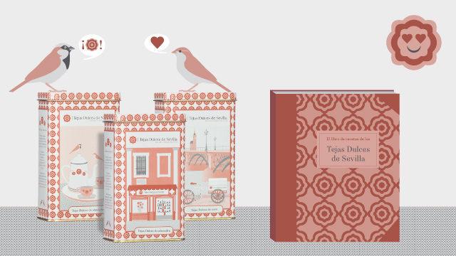 El Libro de Recetas de las Tejas dulces de Sevilla y un juego de latas exclusivas
