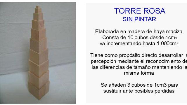 Torre rosa sin pintar