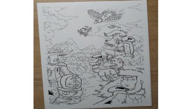 Dibujo original a tinta - Lámina de grupo