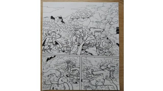 Página 01 del cómic - original a tinta
