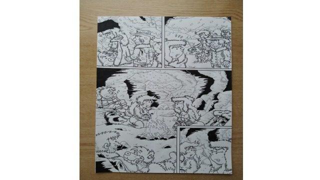 Página 02 del cómic - original a tinta