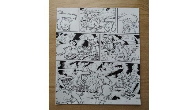 Página 03 del cómic - original a tinta