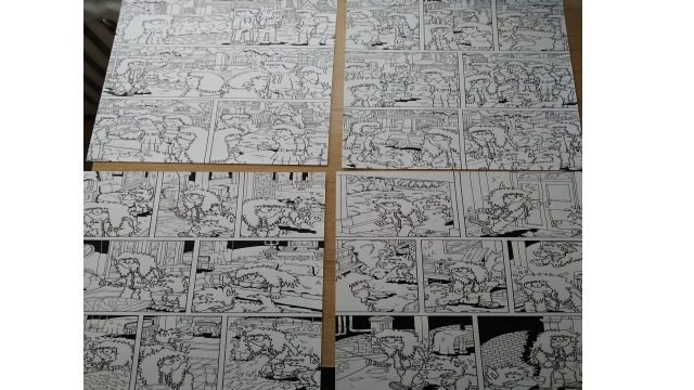 Páginas de Fenris 1 - originales a tinta