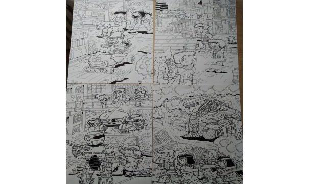 Lote de Dibujos originales a tinta basados en películas