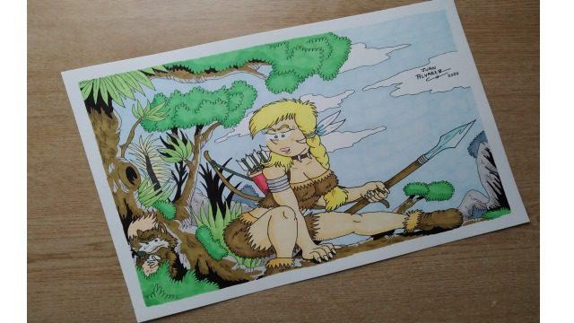 Dibujo original a color - Shonna