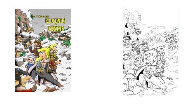 Portada del cómic - original a tinta