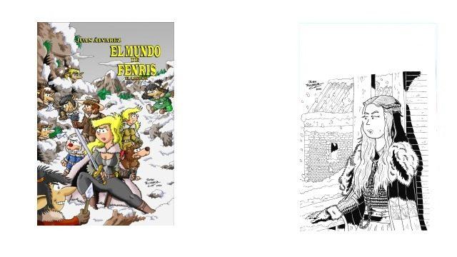 Cómic + Commission (Encargo) tamaño A4 de un personaje a tinta