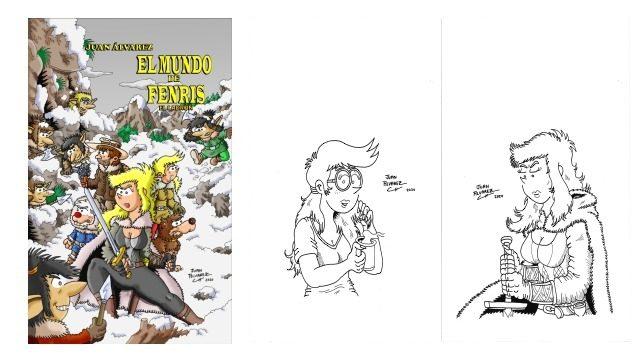 Cómic + Dibujo de personaje a tinta