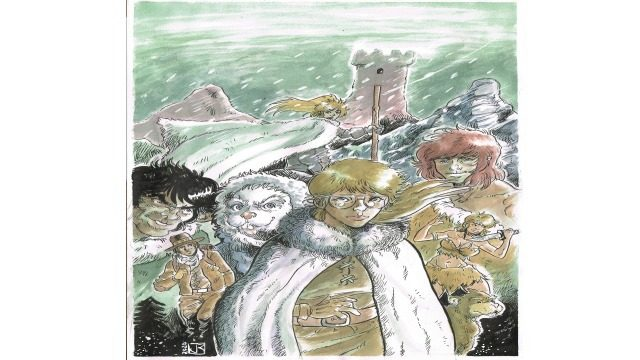 Dibujo original Fenris 2 por Jordi Riba (Jodri)