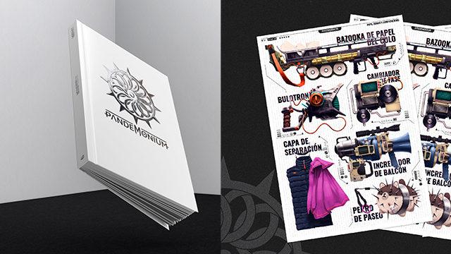 Artbook + Print A3 armas, ropa y complementos.