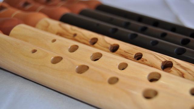 Flauta con digitación de gaita