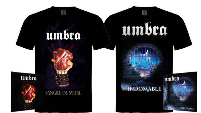CD Indomable + CD Sangre de Metal + camisetas