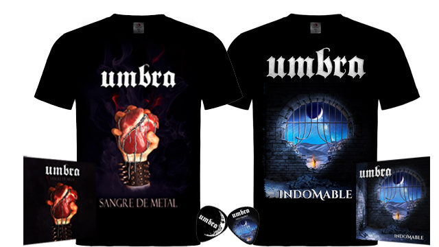 CD Indomable + CD Sangre de Metal + Camisetas + Colgantes
