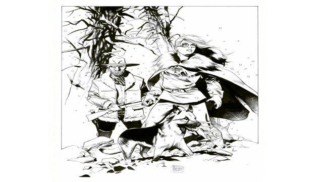 Dibujo original de Rafael Vargas Simón
