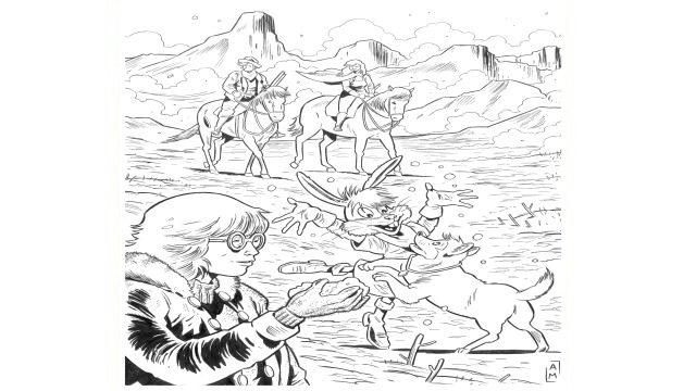 Dibujo original de Fenris 2 por Antonio Maldonado