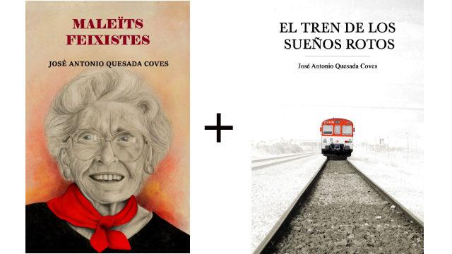 """Llibre en paper """"Maleïts feixistes"""" + llibre en paper """"El tren de los sueños rotos"""""""