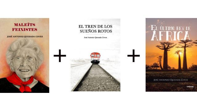 """Llibre en paper """"Maleïts feixistes"""" + llibre en paper """"El tren de los sueños rotos"""" + llibre en paper """"El último rey de África"""""""