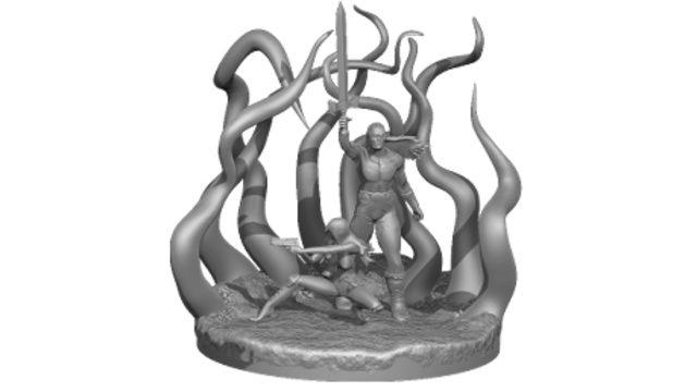 Figura Conan VS Cthulhu