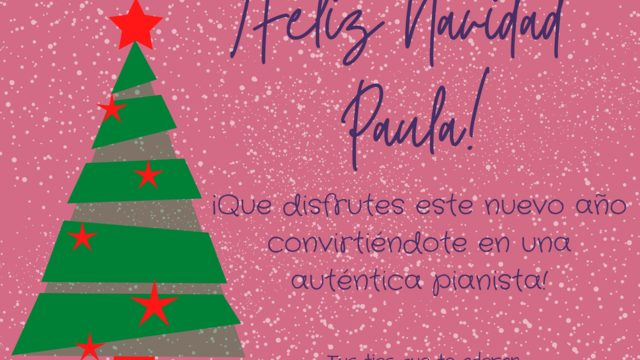 Regalo para navidad: curso completo + dedicatoria