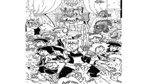 Dibujo original a tinta - Nuevos mutantes