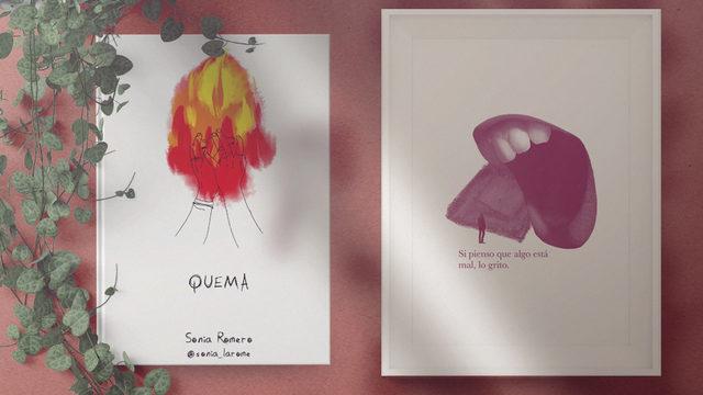 """Un ejemplar de """"Quema"""" con dedicatoria + Lámina A4 serigrafía"""