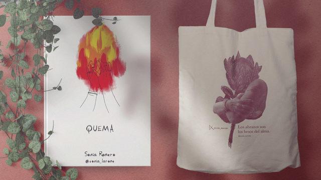 """Un ejemplar de """"Quema"""" con dedicatoria + Totebag sostenible serigrafía"""