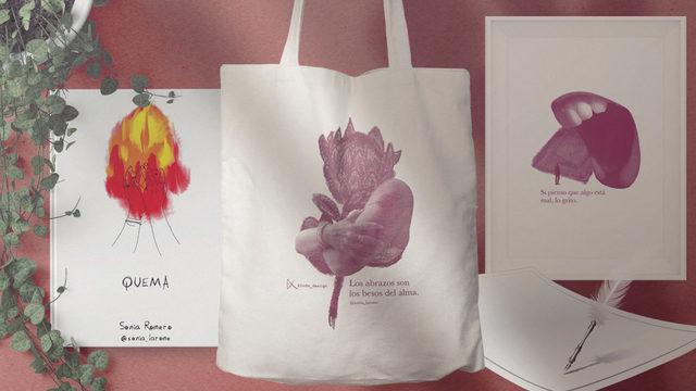 """Pack completo: Libro """"Quema"""" + Lámina + Totebag + Poema personalizado"""