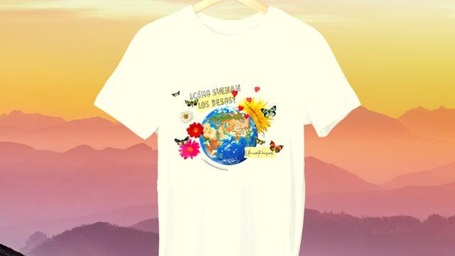 Beso de mariposa 2.0: Postal dedicada + camiseta o bolsa