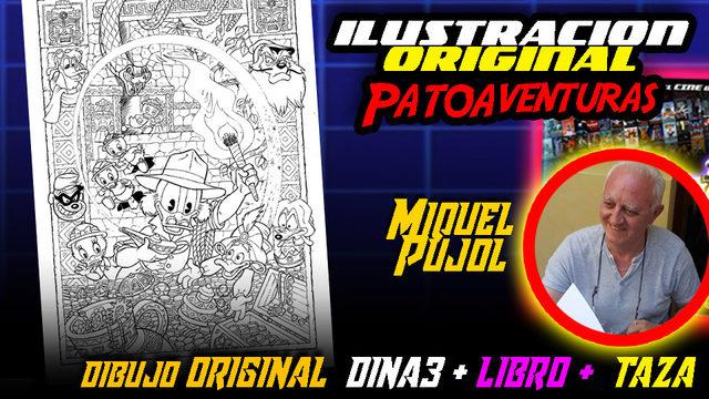 ILUSTRACIÓN ORIGINAL poster PATOAVENTURAS