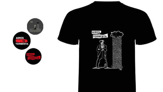 Camiseta + Tres chapas