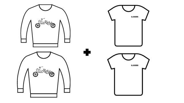 Pack 2 sudaderas + 2 camisetas colección KM 0