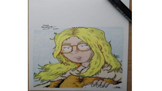 Dibujo original retrato de Rachel