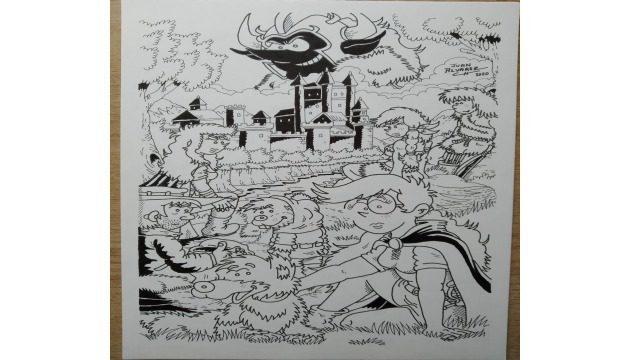 Dibujo original a tinta - Póster Fenris 2