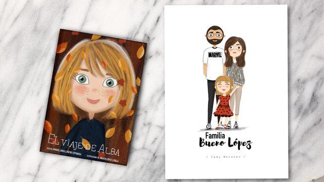 Libro + ilustración 3 personas
