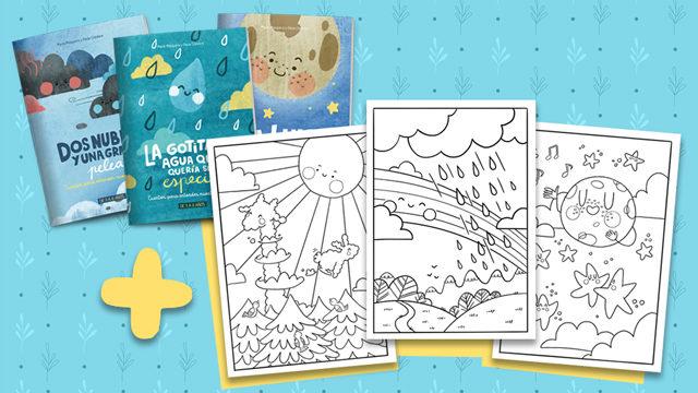 Pack de 3 cuentos impresos + láminas