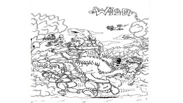 Portada de Wild - Dibujo original a tinta