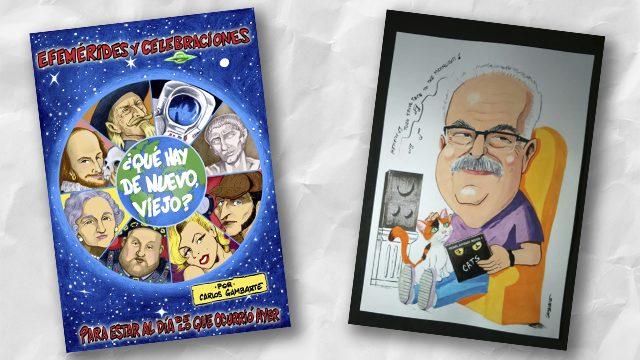 Libro impreso + caricatura (color)