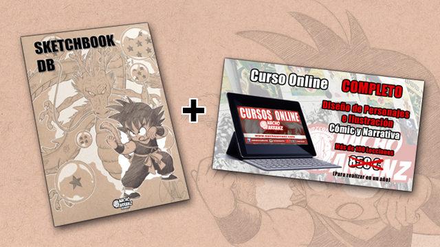 SketchBook DB Firmado + Curso Online Completo Diseños de Personajes e Ilustración, Cómic y Narrativa.
