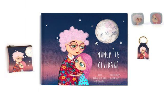 """Libro """"Nunca te olvidare"""" + Pendientes + Monedero + Llavero"""