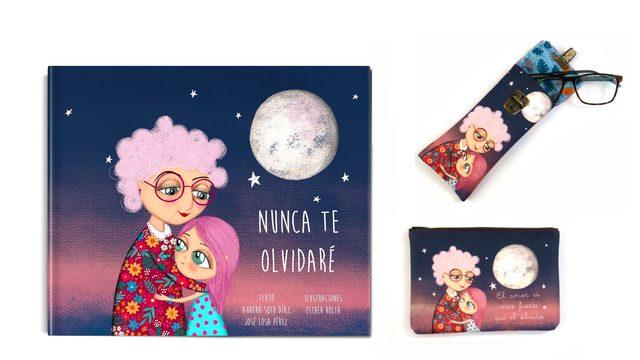 """Libro """"Nunca te olvidare"""" + Funda de gafas + Estuche"""
