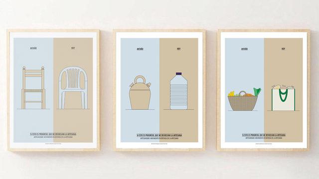 Dos ilustraciones reivindicativas del consumo local y la artesanía