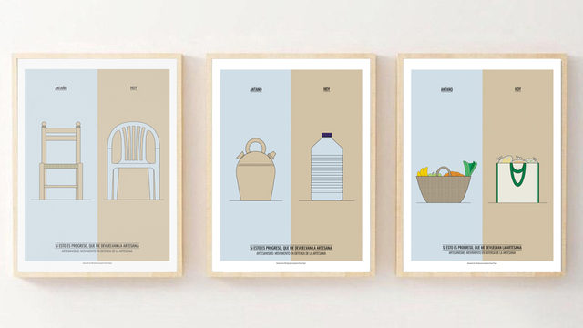 Tres ilustraciones reivindicativas del consumo local y la artesanía