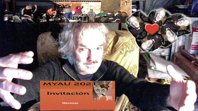 2 Invitaciones a Myau 21. La ola. Abrazo. Los cinco besos de amor.
