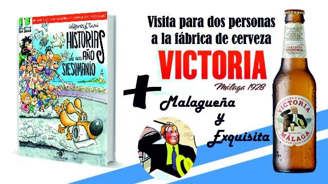 Cómic y visita para dos personas a la fábrica de cerveza Victoria (Málaga)