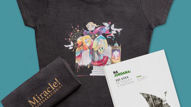 Camiseta con el boceto de la falla + Libro 'Na Jordana, 125 anys de falles a València'