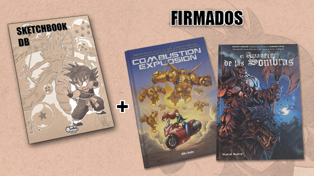 SketchBook DB Firmado + Combustion Explosion + Amanecer de las Sombras (Firmados) *Black Weekend+Cyber Monday*
