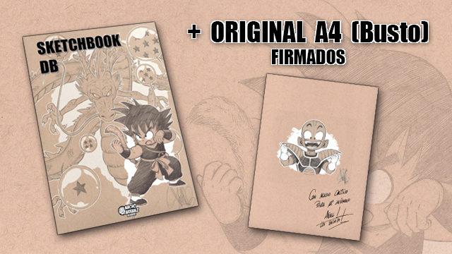 SketchBook DB Firmado + Commission A4 (Busto) Firmada. (Personaje a elegir).